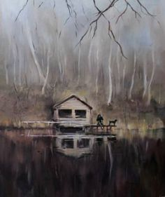 "Saatchi Art Artist Lana Marandina; Painting, ""Anchorite"" #art"