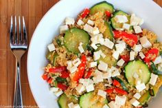 Vegetable stir-fry with couscous