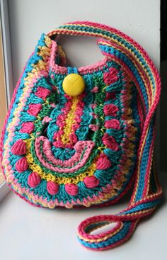 Crochet pattern crochet bag pattern crochet color by LuzPatterns