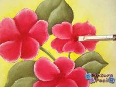 ▶ Painting on Fabric ** Pintura en Tela Individuales Country ** - Pintura Facil Para Ti - YouTube