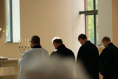 Beginning of the Sunday service, Lutheran church, Poznan, Poland