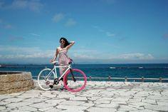 women on bikes.