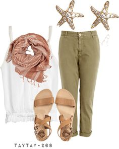 """green pants"" by taytay-268 on Polyvore"
