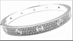 Diamond Studded Cartier Bangle