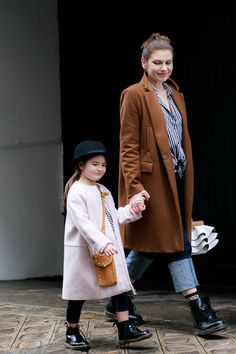 Paris Fashion Week Mother - Daughter Mommy and Me Mini Me Street Style Outfit feat. Dr. Martens Boots