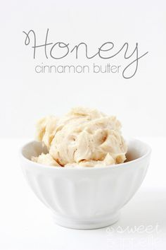 Cinnamon Honey Butter Recipe - One Sweet Appetite - honey-cinnamon-butter - Flavored Butter, Homemade Butter, Butter Recipe, Homemade Caramels, Delicious Desserts, Dessert Recipes, Yummy Food, Fudge Caramel, Cinnamon Honey Butter