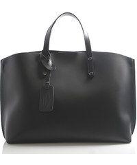 Černá kožená kabelka do ruky ItalY Jordana černá