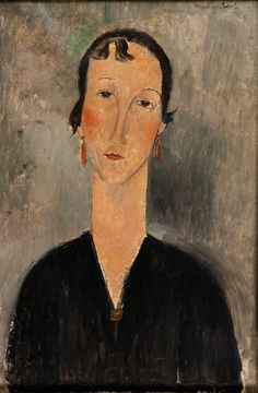 Amedeo Modigliani (1884-1920) Femme aux boucles d'oreilles - Woman with Earrings (c. 1917)