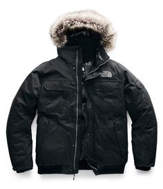 Block out winter's chill with this weatherproof jacket that's insulated with warm down insulation and features an adjustable hood, stormflap, and ribbed trim for complete coverage. Mens Winter Coat, Winter Jackets, Men's Jackets, North Face Fur Jacket, Gotham, North Face Website, The North Face, Triclimate Jacket, British Khaki