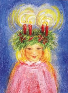 free st lucia story and verses St Lucia Day, Swedish Christmas, Scandinavian Christmas, Lucia Light, All Things Christmas, Christmas Crafts, Xmas, Saint Nicholas, Winter Solstice
