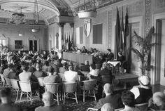 Congresso radiestesia Locarno 1956  sessão inaugural.