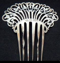 Antique Silver Hair Comb. by jana