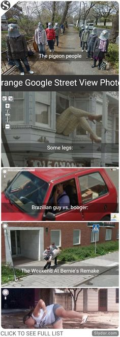 The Most Funny,Embarrassing And Strange Google Street View Photos #google #maps #streetview #fails #funnypics #hilarious #people #lifestyle