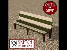 Chief's Shop Sketch of the Day: Observation Bench - YouTube