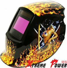 "Amazon.com: 3.8"" x 2.4"" Large View Auto Darkening Welding Helmet MIG TIG ARC Solar Mask: Home Improvement"