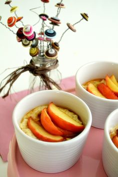 Creamy Vanilla Porridge with Brown Sugar Apples (inspired by Goldilocks and the Three Bears)