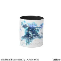 Incredible Dolphins Black 11 oz Two-Tone Mug
