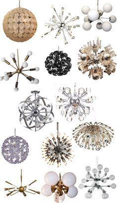 Mid century modern mod sputnik chandelier