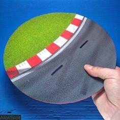"Diorama ""Track Curve"". 1/32 scale  #slot #slotcar #scalemodel #scalextric #dtm #wec #wtcc #diorama #scenary #base #curva #circuito #track #dreamcar #peana Diorama, Slot, Scale, Track, Circuit, Curves, Weighing Scale, Runway, Dioramas"