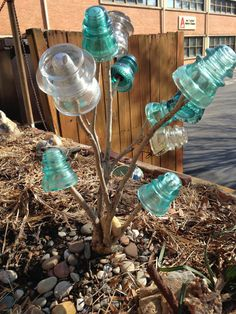 This mini bottle tree is for you, Grumpy Gardener...