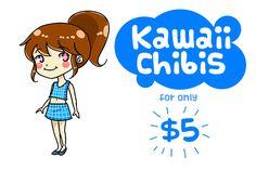draw a kawaii chibi version of you by jamoquina