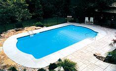 Single Roman Inground Pool Kits | Royal Swimming Pools Swimming Pools Backyard, Swimming Pool Kits, Above Ground Swimming Pools, Ground Pools, Above Ground Pool, Swimming Pool Designs, Pool Landscaping, Swiming Pool, In Ground Pool Kits