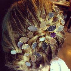 druzy pins plus braid