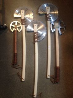 Post apocalyptic axes that still need to rust and age then begin at $250 each or new as pictured, $250 each. (%- /