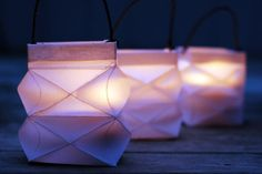 Folded Paper Party Lantern Craft: How to Make a Pretty Folded Square Paper Lantern Origami Lamps, Origami Paper Art, Origami Easy, Diy Paper, Paper Crafting, Paper Gift Box, Paper Gifts, Paper Toys, Gift Boxes