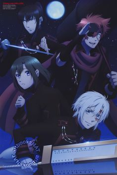 D.Gray-Man Hallow Exorcists Allen Walker, Lenalee Lee, Lavi and Yuu Kanda