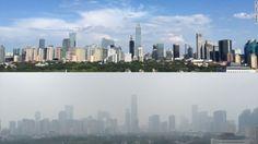China y el smog ¿Atmósfera limpia ante eventos donde el mundo pone sus ojos? Esta vez redujeron la #contaminación del aire para el desfile militar realizado.