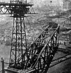 Construção da Ponte D. Luís.