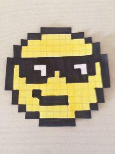 Pixel Art Smiley Lunettes