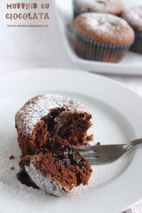 muffins cu ciocolata, reteta briose cu ciocolata No Cook Desserts, Just Desserts, Sweet Recipes, Cake Recipes, Bread Bar, Cake Bars, Lava Cakes, Chocolate Muffins, Breakfast Dessert