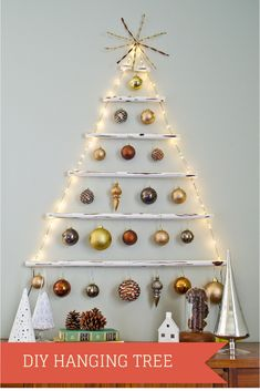 How to: Make a Faux Wood Hanging Christmas Tree + A GIVEAWAY! » Curbly | DIY Design Community