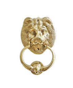 Large Brass Lion Door Knocker  #LEO