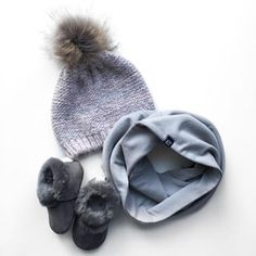 VONBON Winter Favorites, including our organic bamboo circle scarf and #minimoc warm shoes in slate. #baby #babystyle #winterfavorites