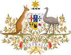 Brasão de armas da Austrália. Coat of arms of Australia.
