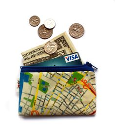 NEW YORK city Map Wallet  cute coin purse with NYC map by efratul, $12.00
