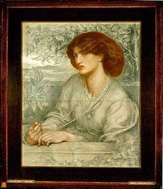 Aurea Catena  Alternately titled: Golden Chain  Dante Gabriel Rossetti  1868 (circa)  Physical Description  Medium: colored chalks on grey-blue paper  Dimensions: 30 x 24 in.