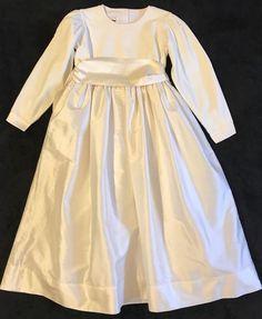 4c1d52f9ca Strasburg Girls Size 8 Holiday   Party   Wedding Ivory Velvet Dress - 100%  Silk  fashion  clothing  shoes  accessories  kidsclothingshoesaccs ...