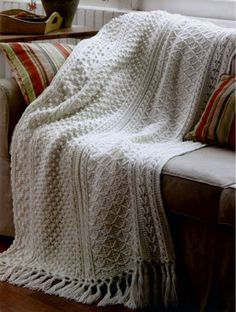 If you love the romantic look of Aran pattern stitches, the Aran Afghans to Crochet collection is a must have for your pattern library. Bonnie Marie Barker pres