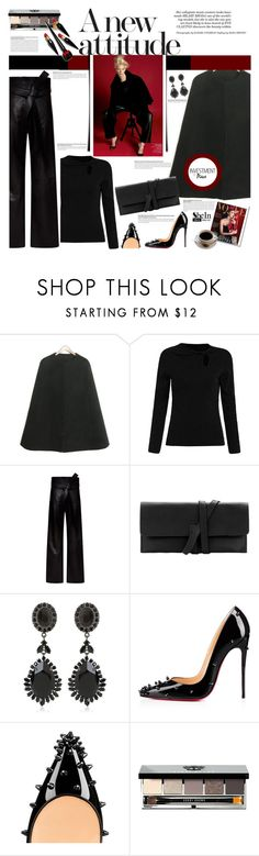 """Strong silhouette"" by naki14 ❤ liked on Polyvore featuring Rocio, Loewe, Givenchy, Olsen, Christian Louboutin, Bobbi Brown Cosmetics, women's clothing, women's fashion, women and female"