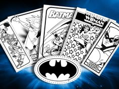 Printables | DC Comics --- updated weekly, this site contains a slew of DC hero coloring sheets for your little super heroes.