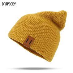 f25178267e0 2018 Winter Hats for Woman HipHop Knitted Hat Women s Warm Slouchy Cap  Crochet Ski Beanie Hat Female Soft Baggy Skullies Beanies