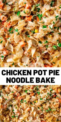 Looking for an easy chicken casserole recipe? This Chicken Noodle Soup Casserole Recipe from Delish. Healthy Chicken Recipes, Pasta Recipes, Cooking Recipes, Chicken Noodle Soup Casserole Recipe, Recipe Chicken, Pasta Dishes, Food Dishes, Pollo Guisado, Comfort Food