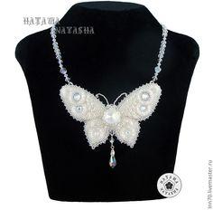 """Купить Колье """"Фея счастья"""" - белый, колье, свадьба, бабочка, свадебное украшение"""
