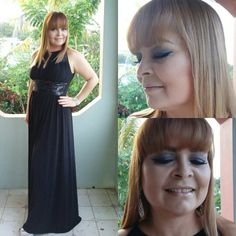 Hoy me toco preparar a mi fabulosa madre!!! Makeup and hair by me!!!