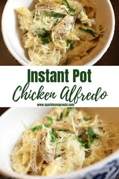 Instant Pot Chicken Alfredo is the perfect go to dinner for the busiest of nights or the laziest fo weekends.  Trust me this is a MUST MAKE!! . #instantpot #chicken #alfredo #pasta #dinner #recipe #busynightdinner #quickandeasy #sparklesnsprouts