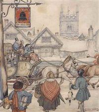 The London-Bath stagecoach by Anton Pieck